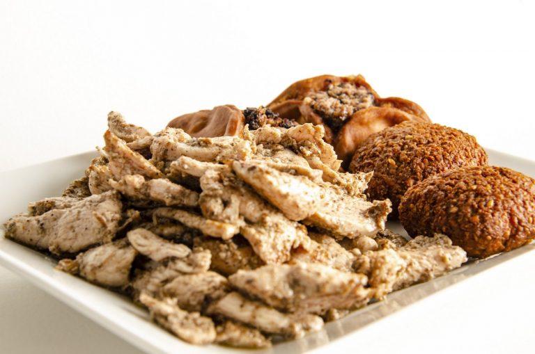 Chawarma poulet, Safiha et Falafels